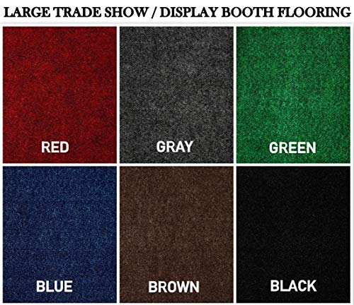 Large Custom Cut-to-Fit Trade-Show Area Rug Carpets. Custom Sizing Available to Choose from (10x10, Green)