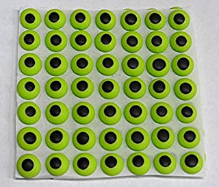 """Halloween Green Candy Eyeball Edible Icing Cake Candy Cookie Decorations 7/16"""" 84 count Halloween Eyes"""