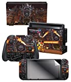 Controller Gear Nintendo Switch Skin & Screen Protector Set, Officially Licensed By Nintendo - Super Mario Kart 8 'Bowser's Castle' - Nintendo Switch