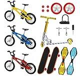 Kacniohen Dedo monopatines Deportes Juguete, Educación Diversión Vespa de la Bici para niños Mini monopatín Dedo Dedo Conjunto Mini Finger Deportes Set 18pcs