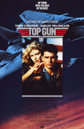 Tom Cruise and Kelly McGillis in Top Gun movie art 24x36 Poster