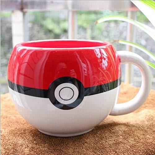 Pokemon Pokeball Becher Handgriff- Keramik-Kaffeetasse Tee Cup für Kinder Geschenk