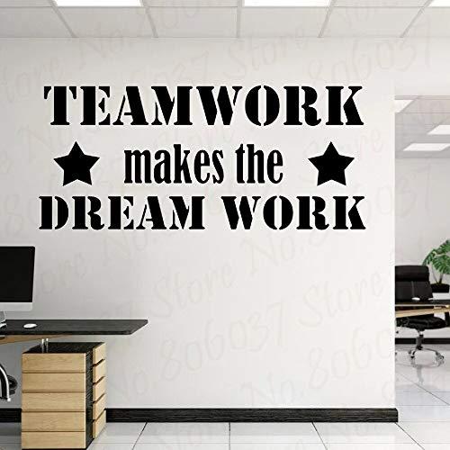 wZUN Teamwork Vinyl Wandaufkleber Home Decoration Office Place Wandkunst Mode Dekoration 109X50cm
