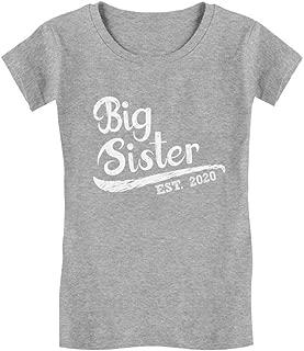 Big Sister Est 2020 - Sibling Gift Idea Infant Girls' Fitted T-Shirt