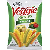 Eight 1 oz. bags of Sea Salt Garden Veggie Straws Made with garden-grown potatoes and vegetables 30% less fat than the leading brand of potato chips* 0mg cholesterol and 0g trans fat per serving Certified Kosher and gluten-free