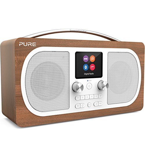 Pure Evoke H6 Digitalradio (DAB+, DAB, UKW, Stereo-Sound, Bluetooth, Sleep-Timer, Weckfunktion, Schlummerfunktion, Countdown-Timer, 40 Senderspeicherplätze, AUX), Walnuss