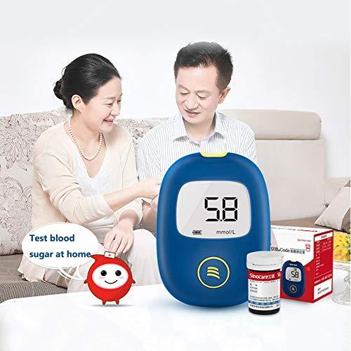 Fall Blutzuckermessgerät, Blutzucker-Tester, Überwachung Zuckermessgerät mit 50 Teststreifen und 50 Nadeln, überwachen Sie Ihre Keton und Glucosespiegel