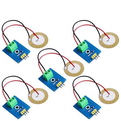 52Pi Vibration Sensor Module Ceramic Piezo Analog Signal for Raspberry Pi/MCU STM32 / ESP32 4Pcs