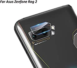 High Definition Ultra Thin Transparent Clear Camera Lens Tempered Glass for Asus Zenfone Phone Rog 2 Protector Protective Cover-2 Packs