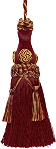 DÉCOPRO Decorative 6 inch Key Tassel/Wine Gold/Baroque Collection Style# BKT Color: Autumn Leaves - 5716