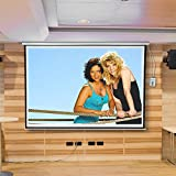 Melko Leinwand für Beamer, Heimkino, Büro, Projektoren, 300 x 229 cm, 145 Zoll, ideal für HD-TV mit Motor und Fernbedienung