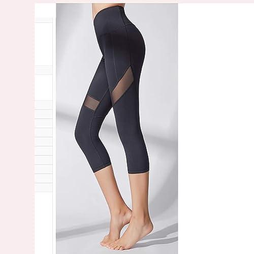 Asnvvbhz Pantalons de Yoga Leggings Fitness Pantalons de Yoga pour Femmes, Collants Extensibles (Couleur   noir, Taille   M)