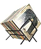 ARAHFUN Vinyl Record Stand Holder Holds up to 80-100 LP Storage Simple Quick Assembly Vinyl Display Storage Organize Albums Book Magazine Files