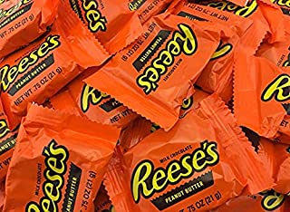 Reeses Original Single Peanut Butter Cups Milk Chocolate Snack Size | Share It On Balloon Fiesta, Thanksgiving , Christmas, 4th of July Candy - 2 lb