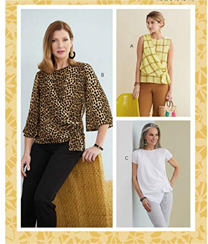 Butterick B6765A5 B6765A5-Camiseta de Manga Corta, Blanco, A