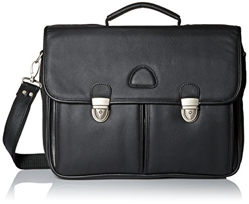 amerileather leather briefcases World Class Black Leather Executive Briefcase (#2439-0)