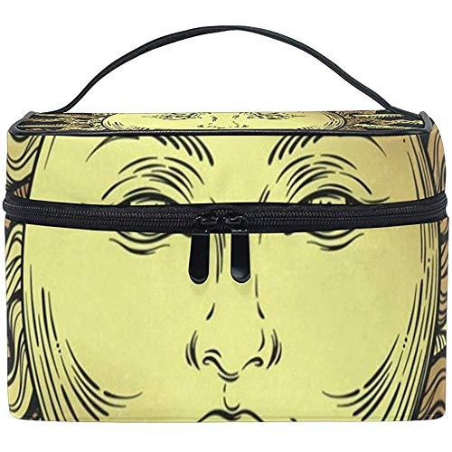 Cosmétique Sac Boho Golden Sun Stars Femmes Maquillage Organisateur Filles Trousse De Toilette Boîte Lazy Zip Sac