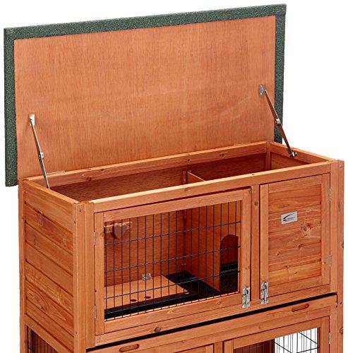 Bunny Business Stall für Kaninchen / Meerschweinchen, 2Ebenen, mit Auslauf - 4