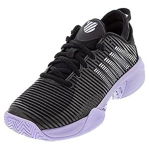 K-Swiss Women's Hypercourt Supreme Tennis Shoe (Black/Purple Heather, 8.5)