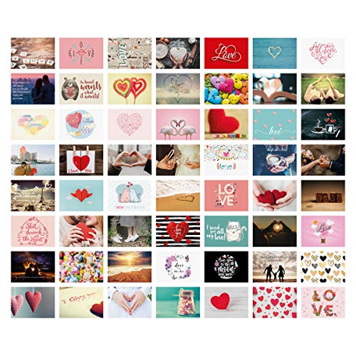 Postkarten Hochzeit 52 Stück Set Liebespostkarten Liebeskarten Hochzeitsspiel ein Jahr jede Woche eine Karte Spiel Hochzeitsgeschenk Gästebuch Alternative - Liebe