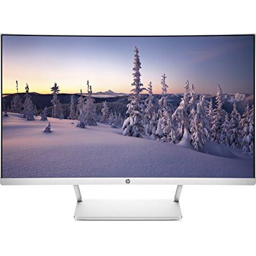 HP 27 Curved Monitor, Schermo VA Full HD, Risoluzione 1920x1080, Tecnologia AMD FreeSync, Micro-Edge, Raggio Curvatura 1800R, HDMI, DisplayPort, Comandi su Schermo, Reclinabile da -5 a +25°, Argento