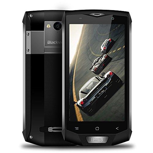 Telephone Portable Debloqué, Blackview BV8000 Pro 6+64GO 8+16MP de Caméra, Smartphones Etanche avec 4180mAh Batterie 9V/2A Android 8.0, Outdoor...