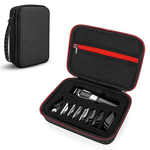 Tasche für Philips Multigroom Series 3000 Rasierer, MG3757, MG3710, MG3720, Hart Reise Tragen Hülle Case (Black)