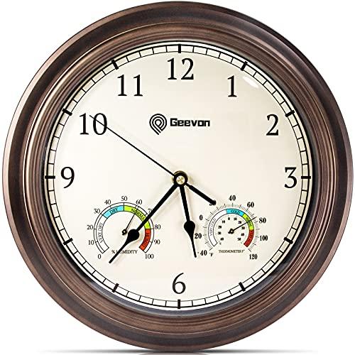 Relojes De Pared Con Termometro E Higrometro  marca Geevon