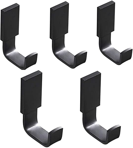 Aothpher 5 Pack Bathroom Towel Coat Hooks Robe Hook Entryway Kitchen Home Office Wall Mounted Copper Matte Black
