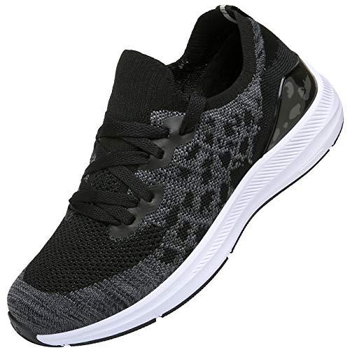 KOUDYEN Donna Uomo Scarpe da Ginnastica Corsa Running Sneakers Sportive Fitness Basse Casual,XZ581-Halfblack-EU40