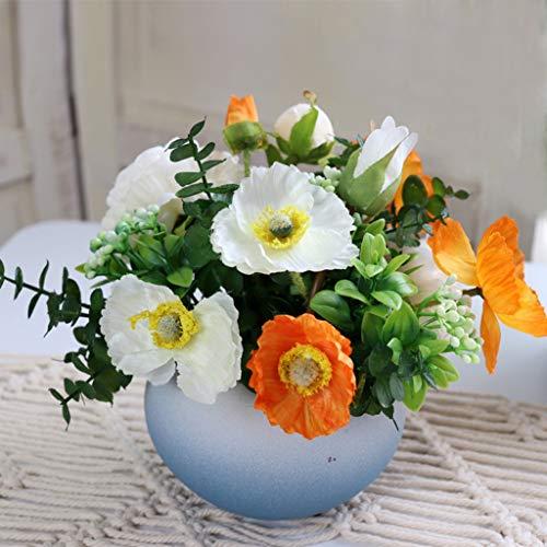 Kunstmatige bloemen met vaas Rose Flower Nordic Decoration salontafel Set Decoration Bruidsmeisje Bouquet Bloemstuk (Size : B)