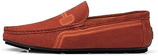 XFQ Mocassins Homme, Slip-on Chaussures Plates Casual Respirante Douce Chaussures De Conduite Bas De Grande Taille,Orange,...