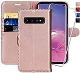 MONASAY Galaxy S10 Wallet Case, 6.1 inch [Included Screen