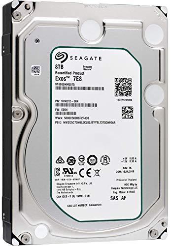 Seagate ST8000NM0065 - Disco duro interno (8 TB, capacidad empresarial) negro 8 TB