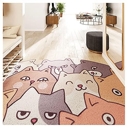CHENMIAOMIAO Almohadilla de bienvenida al aire libre, pinzas para tarjetas, puerta de casa, alfombra, almohadilla para pies, se puede cortar (color: A, tamaño: 120 x 220 cm)