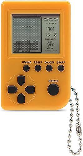 KincoBa Mini Schlüsselanh er Game Tetris Spiel-Verpackung Spielzeug, integrierte 26 Spiele (gelb)