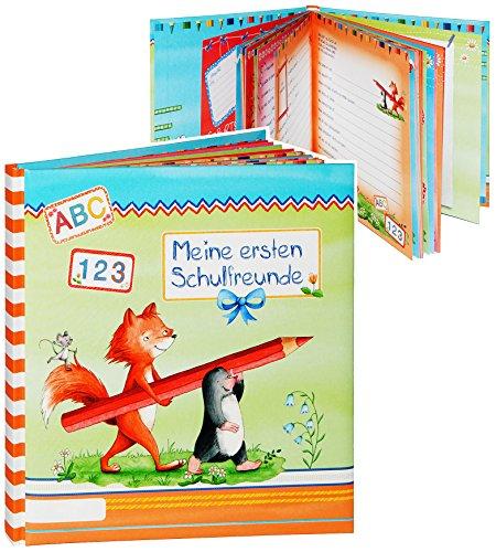 Mein Freundebuch -  Meine ersten Schulfreunde  - für Jungen & Mädchen / Freunde Buch - gebunden für Schule Kind - Kinder Vorschule Poesiealbum - Poesie A5 S..