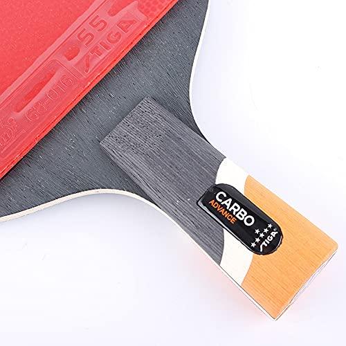PPuujia Juego de raquetas de tenis de mesa Star para raqueta de tenis de mesa para raqueta ofensiva (color mango corto)