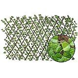 Valla enrejada expansible, paneles de cerca de planta de jardín artificial retráctil, pantalla de privacidad protegida contra rayos UV adecuada para exteriores, interiores, jardines, cercas, patios