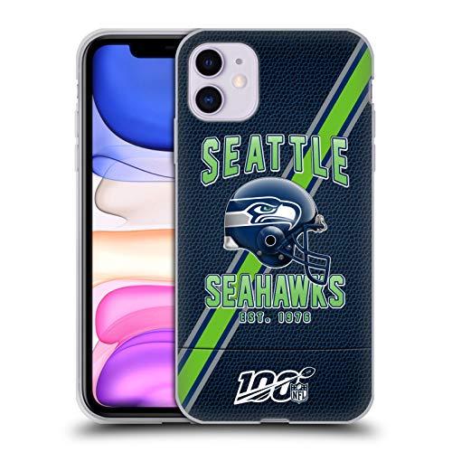 Head Case Designs Offizielle NFL Football Streifen 100ste 2019/20 Seattle Seahawks Soft Gel Huelle kompatibel mit Apple iPhone 11