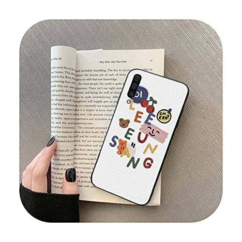 lindo enhypen arco iris gato teléfono caso para Samsung Galaxy S 7 8 9 10 20 borde A 6 10 20 30 50 51 70 note 10 plus-a7-samsung a71 5G