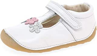 Clarks Tiny Sun Toddler Leather Shoes in White