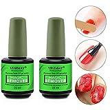 Ownest 2Pcs Burst Dissolvant, facilement et rapidement Supprime Soak-Off Gel Polish, Ne pas Hurt Nails, professionnel Non irritant Vernis à ongles Remover- 15ml