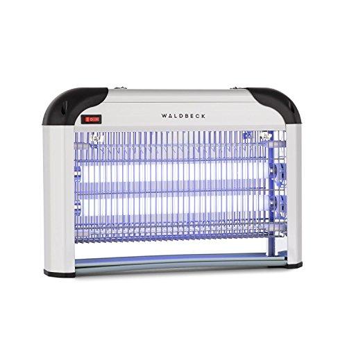 Waldbeck Mosquito Ex 4000 Lámpara insecticida - Atrapa Insectos UV, Repelente de Mosquitos, Sin químicos tóxicos, Inodoro y silencioso, 30 W, Efecto 100 m², Dispositivo de suspensión, Plateado