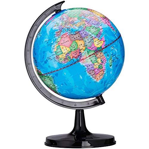10.6cm Globus Mini Desktop World Globe - Pädagogische/Geografische, Büro Desktop-Dekoration, Student Geographie Unterrichtsmaterial