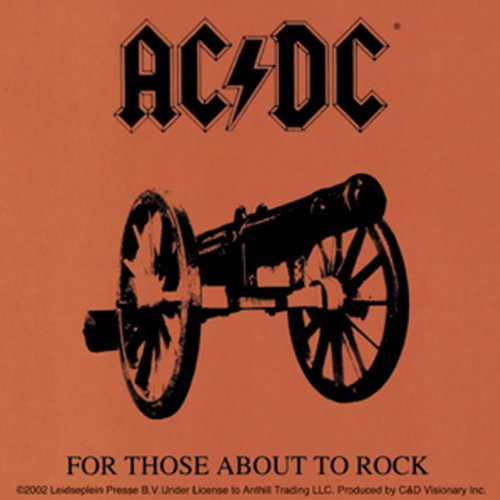 AC/DC About Rock STICKER, Officially Licensed Products Classic Rock Artwork, - Long Lasting Sticker AufkleberDECAL