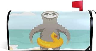 Fengye Summer Cartoon Beach Sloths Mailbox Magnetic Cover Medium Large Capacity Post Box Covers