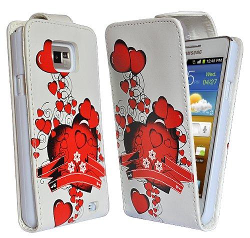 Accessory Master E49 - Custodia in Silicone per Samsung Galaxy S2 i9100, Motivo: Cuore