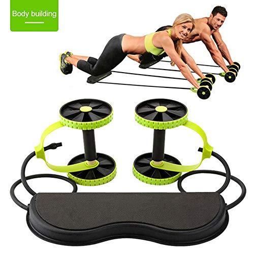 SASDA Bauch-Übung Roller Bauch Rad Bauchmuskeltrainer Fitness Bauch Roller Trainer ABS-Training Kit Crossfit Bauchtrainer,Schwarz