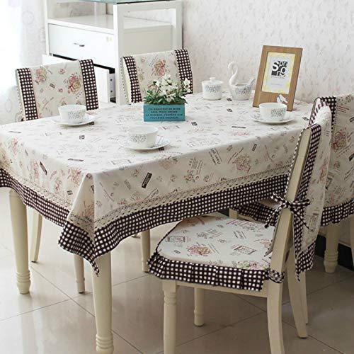 YOUYUANF - Mantel de jardín, lavable, bandera de mesa, 1 cojín para silla + 1 respaldo